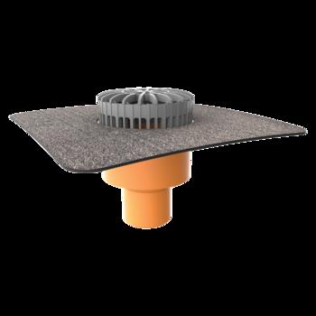 Zvislý terasový vpust s integrovanou bitúmenovou manžetou