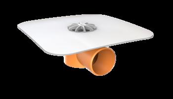 Vodorovný balkónový vpust s integrovanou PVC manžetou