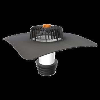 Sanačný vpust pre nezateplené strechy s integrovanou manžetou na zákazku