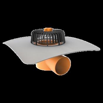 Vodorovný strešný vpust s integrovanou PVC manžetou