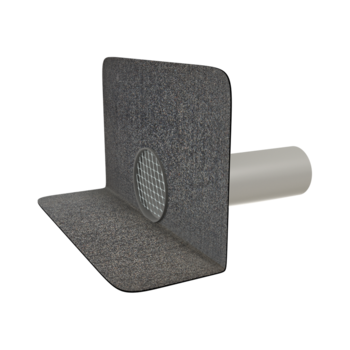 Chrlič guľatý s integrovanou bitúmenovou manžetou
