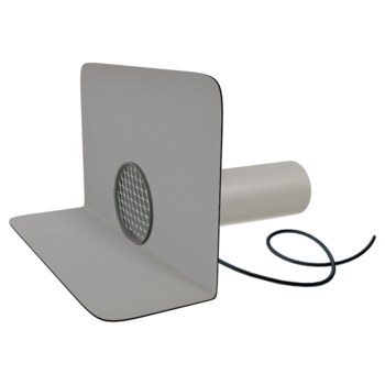 Chrlič guľatý vyhrievaný s integrovanou PVC manžetou