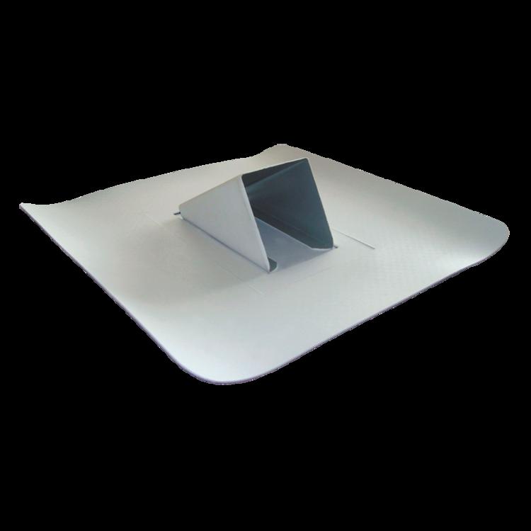 Plechový zachytávač snehu svetlo sivý s integrovanou manžetou hydroizolácie