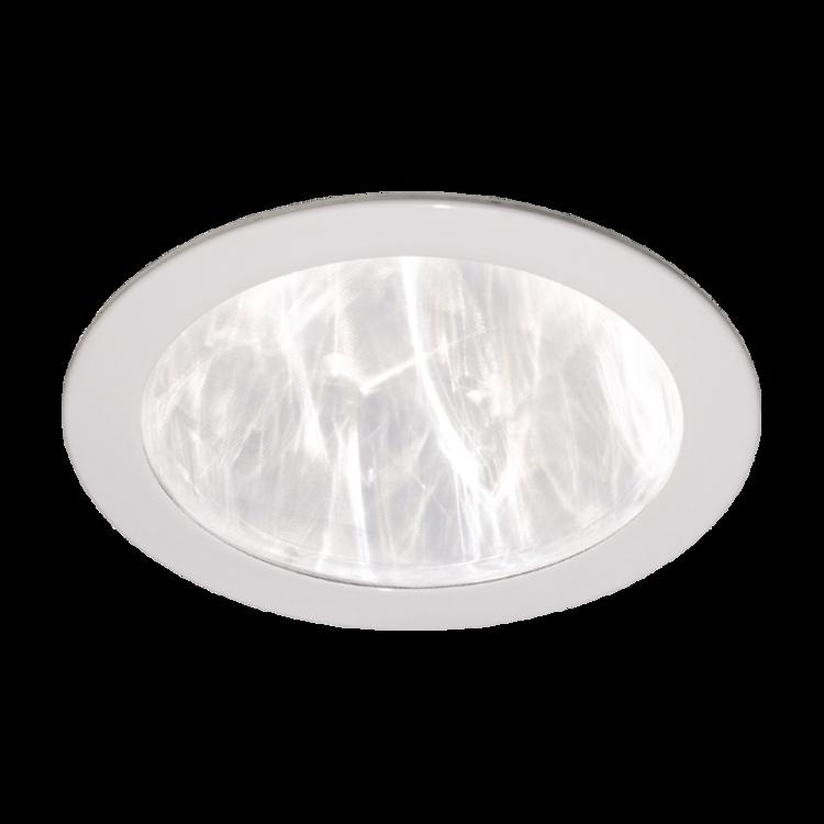 Stropný difuzér plastový biely rovný