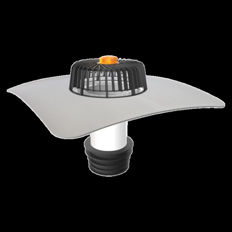 Sanačný vpust pre nezateplené strechy s integrovanou PVC manžetou