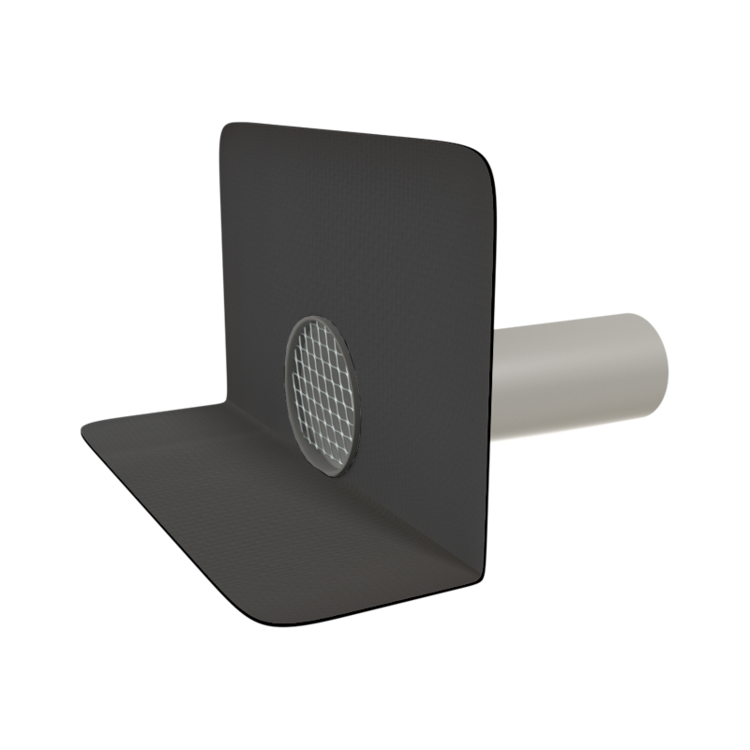 Chrlič guľatý s integrovanou manžetou na zákazku